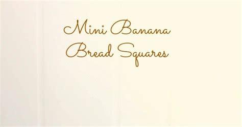 Tokyo1 Mini Bread Square mini banana bread squares