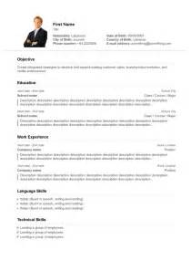 template for professional resume professional resume template 10 resume cv