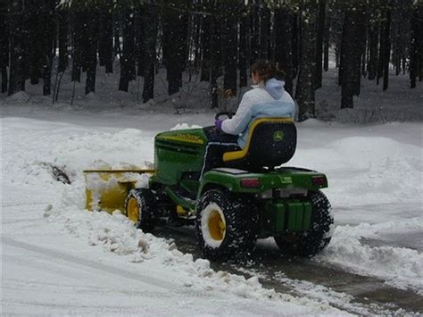 john deere 425 lawn tractor with snow blower car