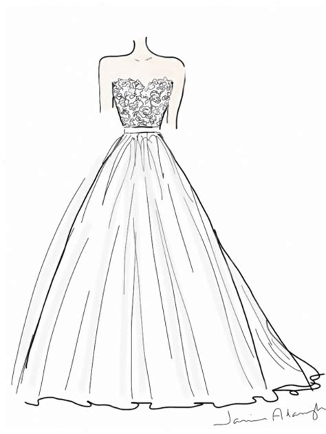 simple dress coloring page free easy dresses coloring pages