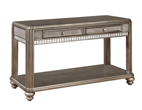 coaster 704619 sofa table metallic platinum 704619 at