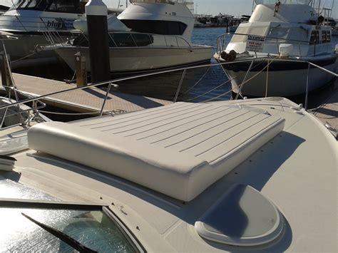 boat upholstery perth fwd sun lounge capri prestige marine trimmers boat