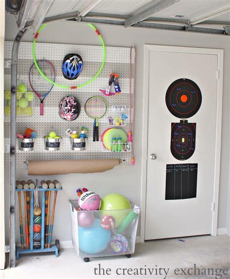 garage toy storage diy garage pegboard storage for outdoor toys