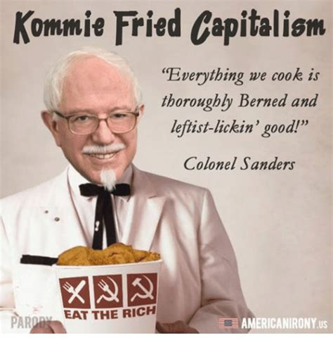 Colonel Sanders Memes - capital memes on sizzle capitalism and tfw