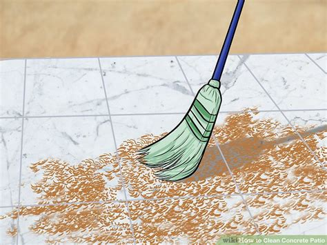 clean concrete patio 3 ways to clean concrete patio wikihow