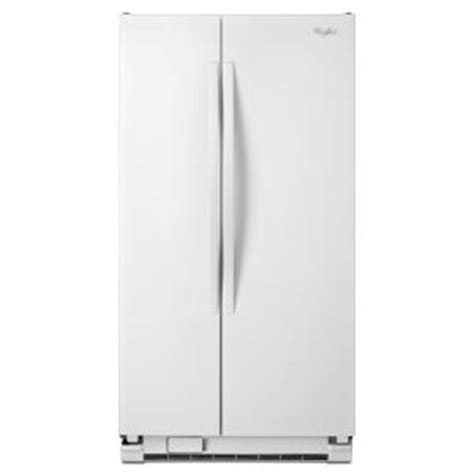 whirlpool 33 in w 21 6 cu ft side by side refrigerator