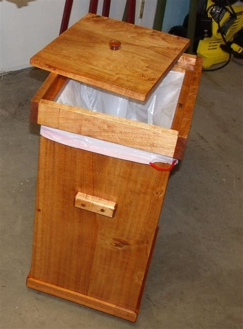 wooden kitchen garbage cans kitchen garbage can with lid wood projects