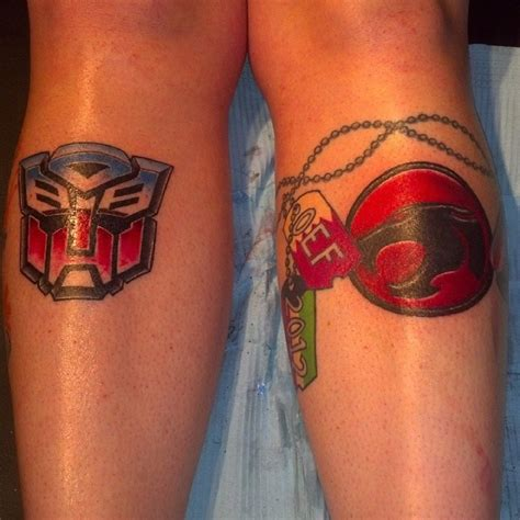thundercats tattoo matching tats with autobot thundercats by 2barquack