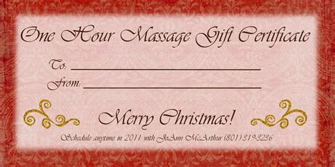 free printable gift certificate massage 10 best images of free printable massage gift certificate