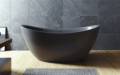 black freestanding bathtub aquatica purescape 171 black freestanding solid surface