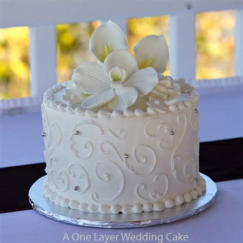 Wedding Layer Cake by Smalll One Layer Wedding Cake St Louis