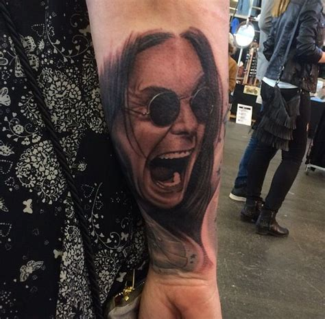 ozzy osbourne tattoos ozzy osbourne portrait done at the amsterdam
