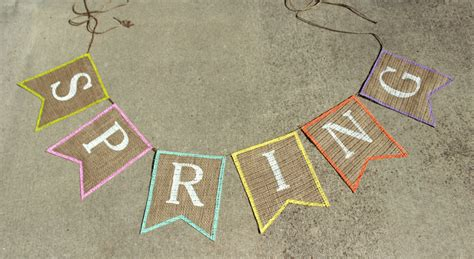 Diy Spring Burlap Banner With Free Banner Template The Hamby Home Diy Banner Template