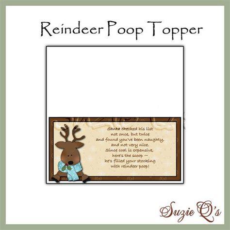 printable reindeer poop labels reindeer poop topper digital printable good by