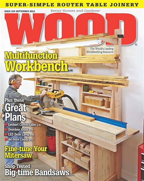 wood issue  september  woodworking plan  wood