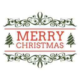 merry christmas badge transparent png svg vector