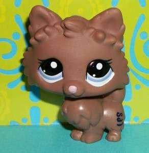 lps pomeranian shop lps chocolate brown caramel barking collie 237
