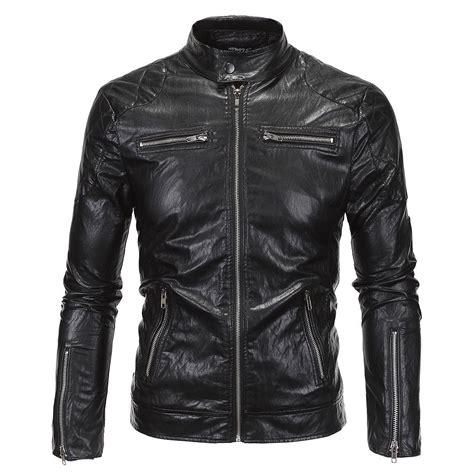 Jaket Kulit Front Belt vintage black leather western biker duster trench coat