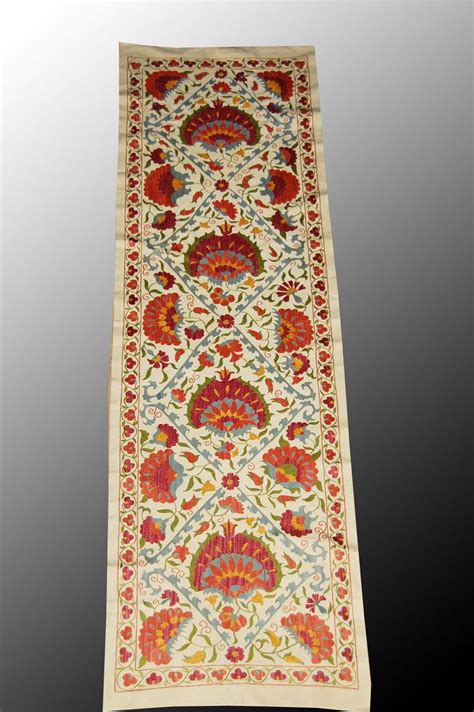uzbek hand embroidered silk suzani one kings lane 208 best images about pillows blankets on pinterest