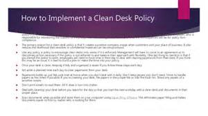 What Is Clean Desk Policy by Clean Desk Policy