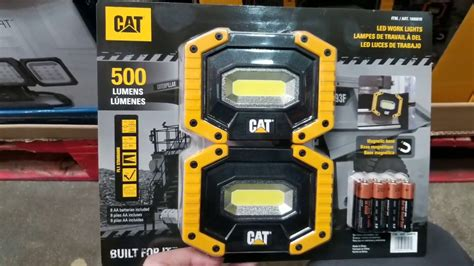 cat rechargeable led work light costco costco cat led worklight w magentic base 2pk 19