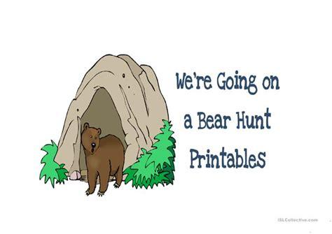 we 180 re going on a bear hunt worksheet free esl