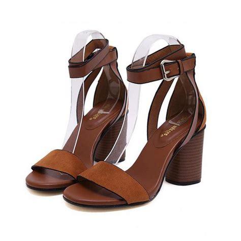 brown sandals heels brown suede block heel sandals
