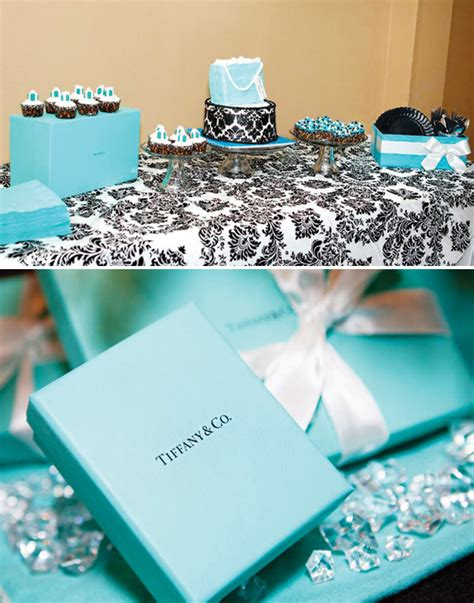 Tiffany Themed Birthday Party | tiffany themed 30th birthday brunch breakfast at tiffany