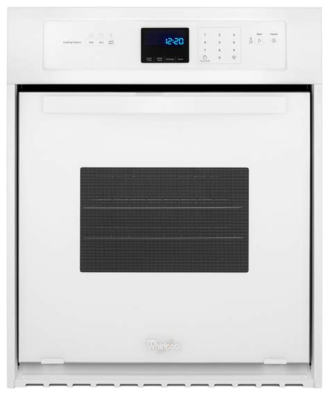 24 built in oven whirlpool 24 quot built in single electric wall oven white