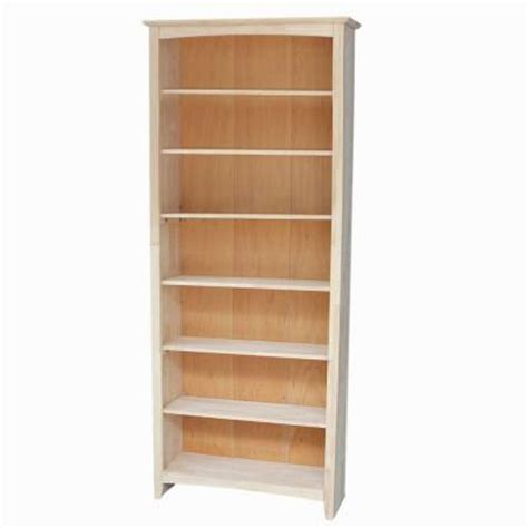 unfinished wood bookshelves international concepts 7 shelf bookcase in