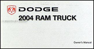 automotive service manuals 2004 dodge ram 1500 security system 2004 dodge ram pickup truck owner s manual original for gas vehicles