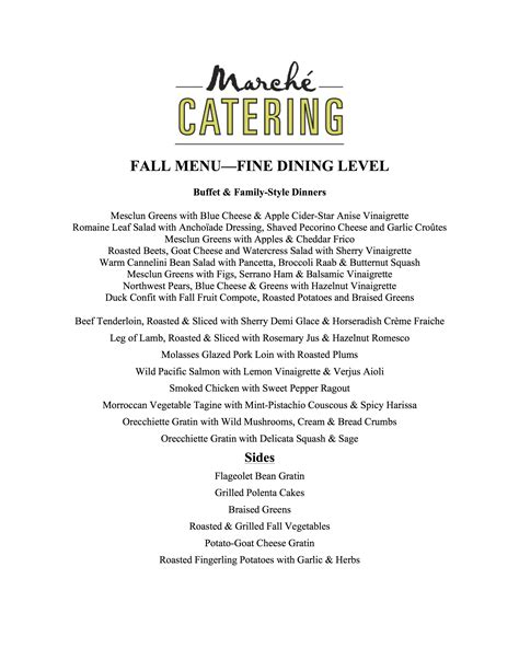 catering email template marche catering
