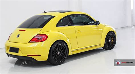 Vw Beetle Cabrio Tieferlegung by Vw Beetle 5c In Gelb Auf Schwarzen Hre Classic 300 Felgen