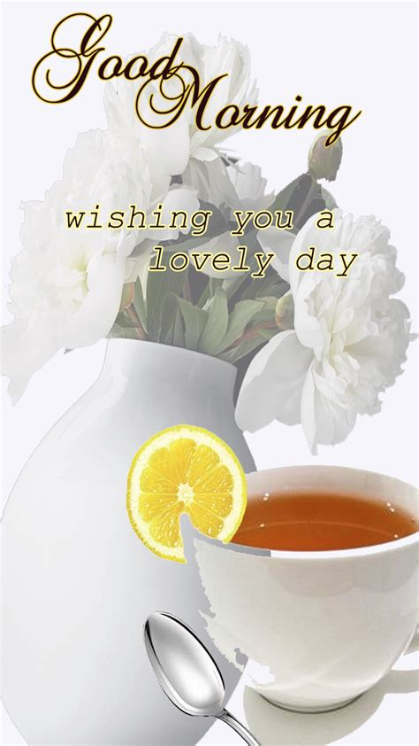 morning quote freeproducts morning with tea morning with flower and tea