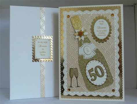 50th wedding anniversary personalised cards 50th golden wedding anniversary card for