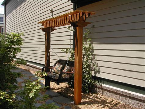 pergola swing plans arbor for the swing my father in law built in 1929 i d