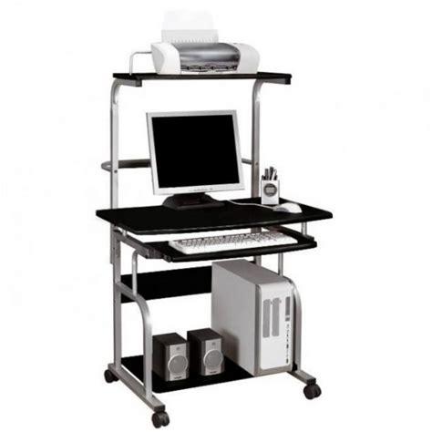 scrivanie per piccoli spazi scrivania multifunzione porta pc su ruote compatta per