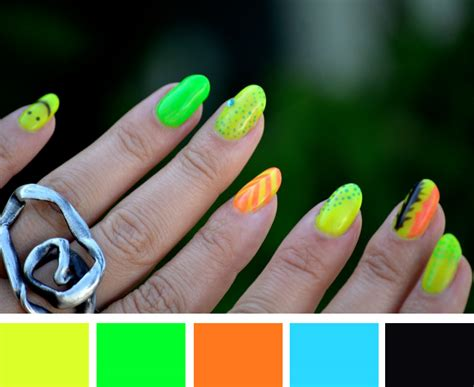 neon color scheme mr kate nails of the week neon color scheme