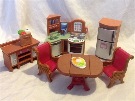 loving family kitchen furniture wonderful fisher price loving family doll house kitchen furniture lot must c ebay