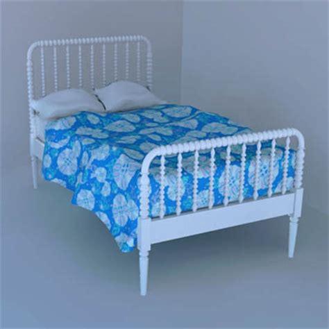twin jenny lind bed jenny lind bed 3d model formfonts 3d models textures