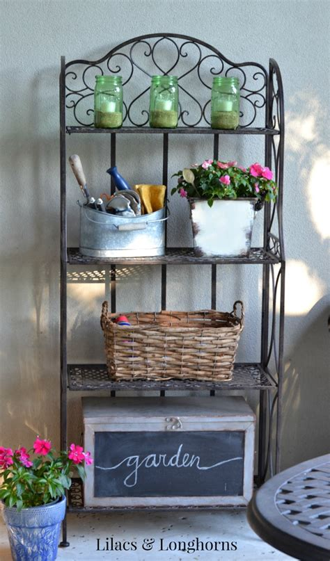 outdoor storage shelves outdoor patio shelving lilacs and longhornslilacs and longhorns