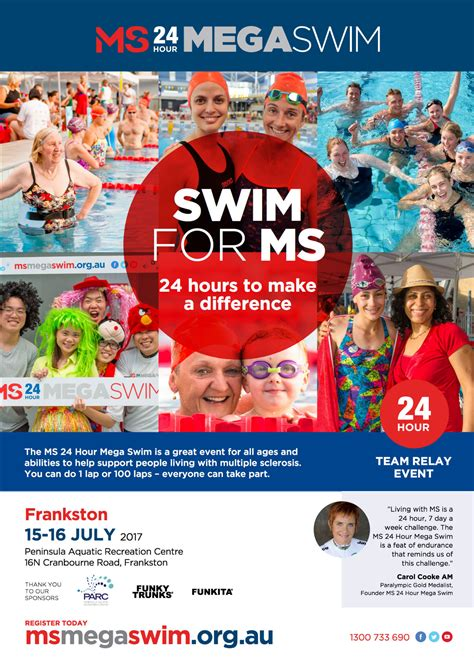 ms to hour ms 24 hour mega swim frankston melbourne