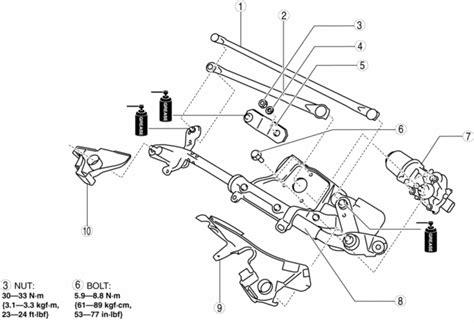 Windshield Wiper Motor Mazda 3 mazda 3 service manual windshield wiper motor