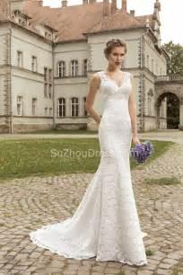 Wedding Dress Com Vintage Lace Sheath Appliques Bridal Dress 2017 Court Train V Neck Wedding Dress Vk0044 Trumpet