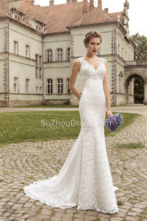 brautkleider meerjungfrau schlicht vintage lace sheath appliques bridal dress 2017 court