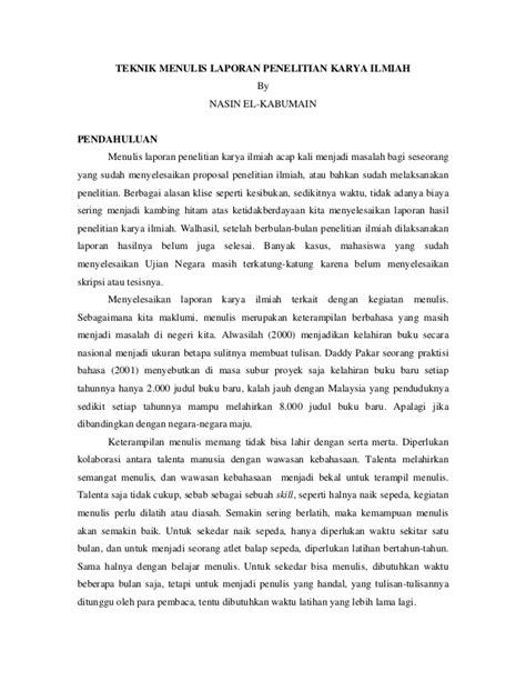 Bahasa Indonesia Penulisan Dan Penyajian Karya Ilmiah Sri Hapsari W karya tulis ilmiah