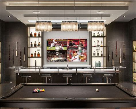 how big is a bar pool table residential bar with big screen tv and pool table wine