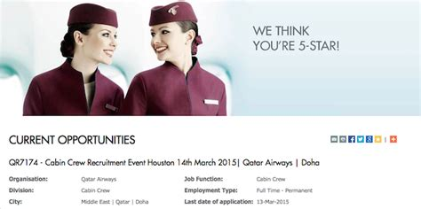 cabin crew qualifications qatar airways is recruiting for cabin crew in the us