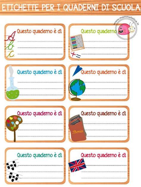 What Does Calendario In Italian Etichette Per La Scuola Da Stare Mamma Felice