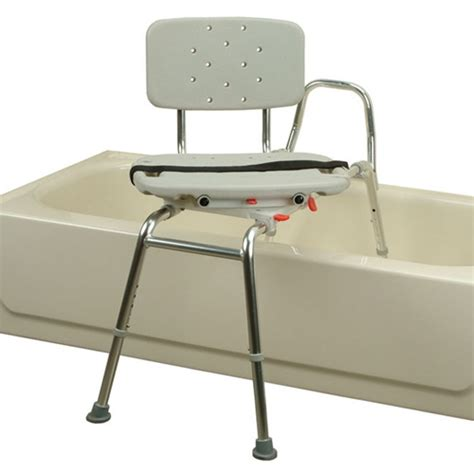 bath tub transfer bench sliding transfer bench swivel seat bath tub 400 lb 30012